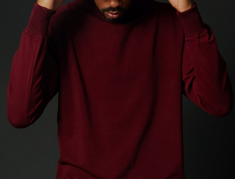 Red Oversized Pullover Front View True Hills Mens V1