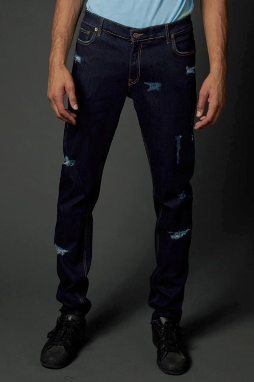 Ripped Denim Front View True Hills Mens V1