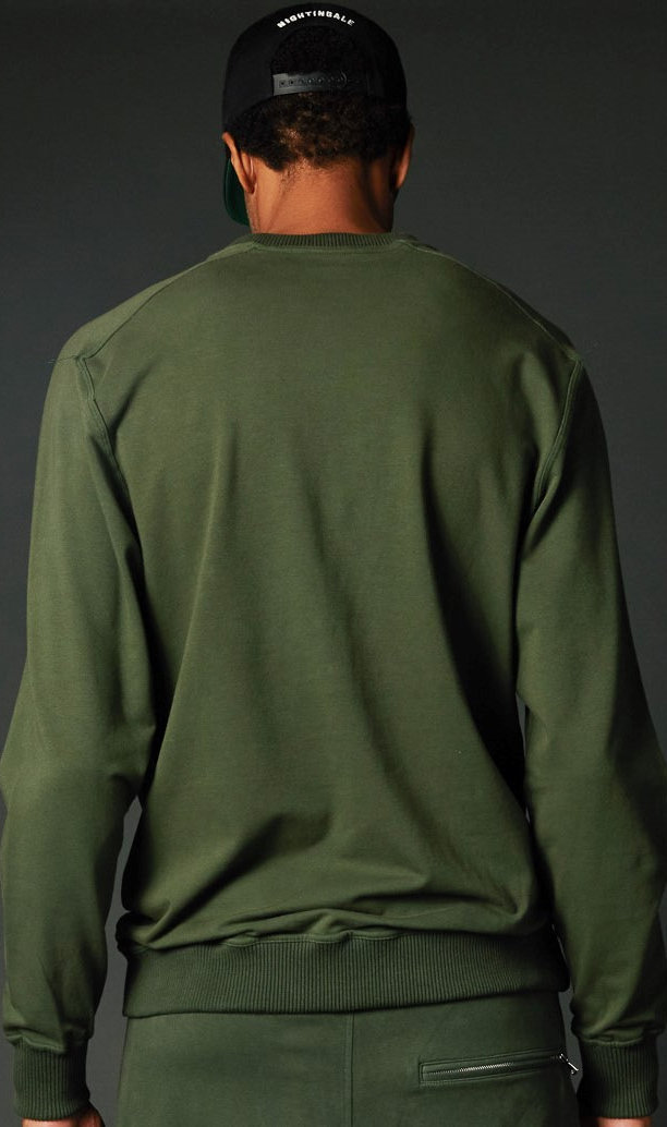 Green True Hills Over Sized Crew Neck Back