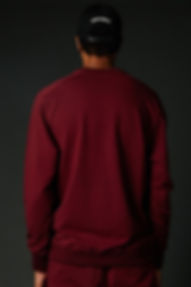 Red True Hills Over Sized Crew Neck Back