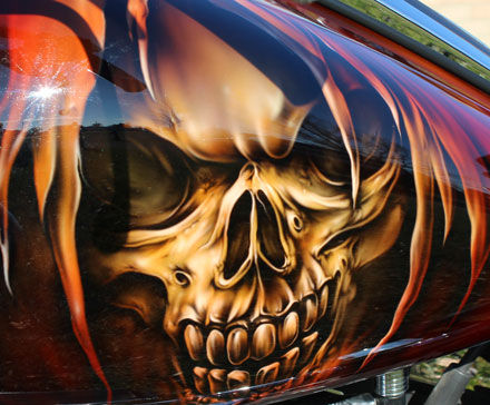 Airbrushed Skulls & Reapers in Southern Ontario.Toronto, Kitchener, and London.