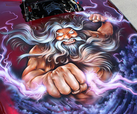 Airbrush vehicle art by Bevin Finlay