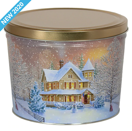 Home For The Holidays Popcorn Tin