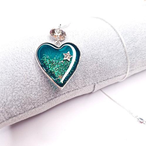 Collier Coeur de resine - Mon Canard