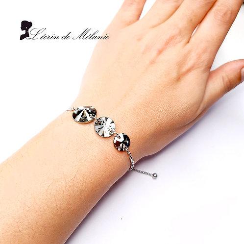 Bracelet -  Cristaux de Swarovski Light Black