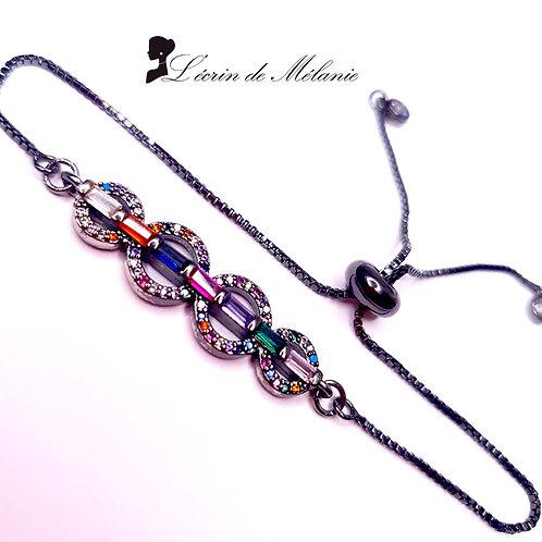 Bracelet -  Cercles Multicolores