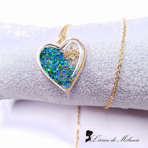 Coeur de resine - Bouquet de Printemps