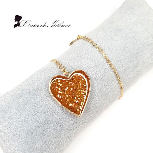 Coeur de résine - Mon Caramel