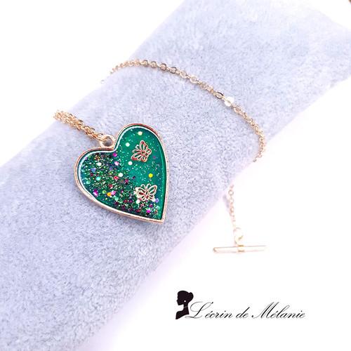 Coeur de Résine - Envolée - Vert