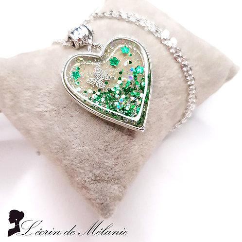 Coeur de resine - Émeraude