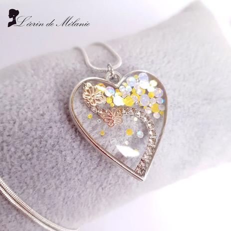 Collier Coeur de Résine Sweety