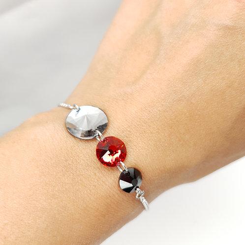 Bracelet -  Cristaux de Swarovski Tricolore