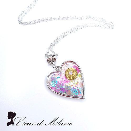 Collier - Coeur de resine - Fantaisies