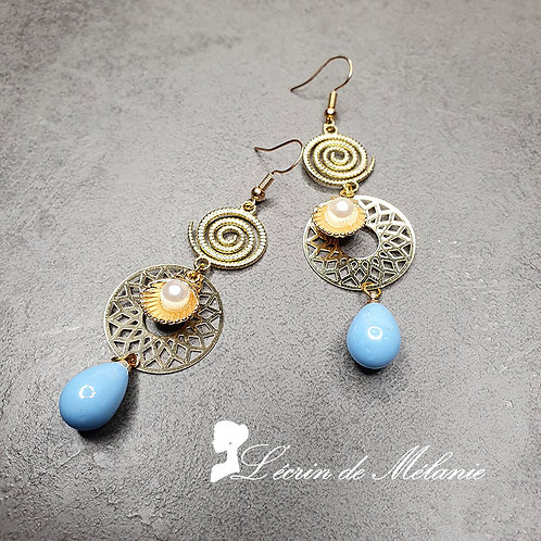 Boucles d'oreille - Coquillages