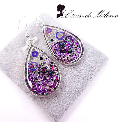 Boucles d'oreille - Ultra Violet
