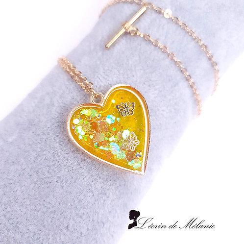 Coeur de resine - Envolée (Jaune)