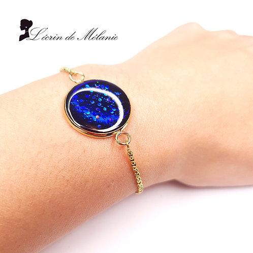 Bracelet en Résine Bleu Navy
