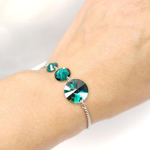 Bracelet -  Cristaux de Swarovski Emerald