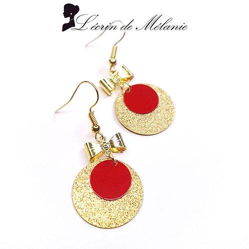 Boucles d'oreille - Laurette (rouges)