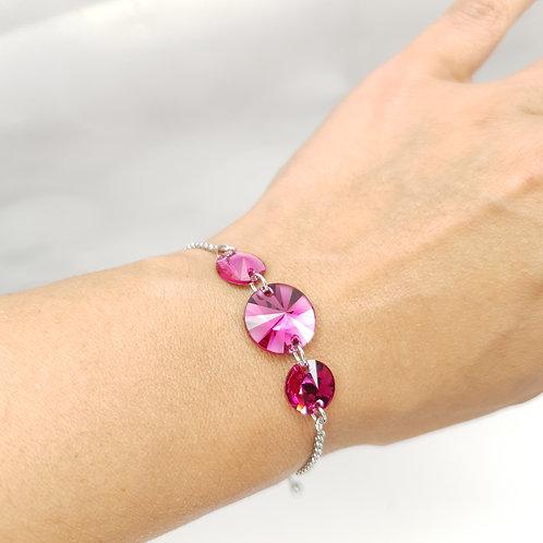 Bracelet -  Cristaux de Swarovski Fuschia