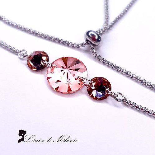 Bracelet -  Cristaux de Swarovski Peach