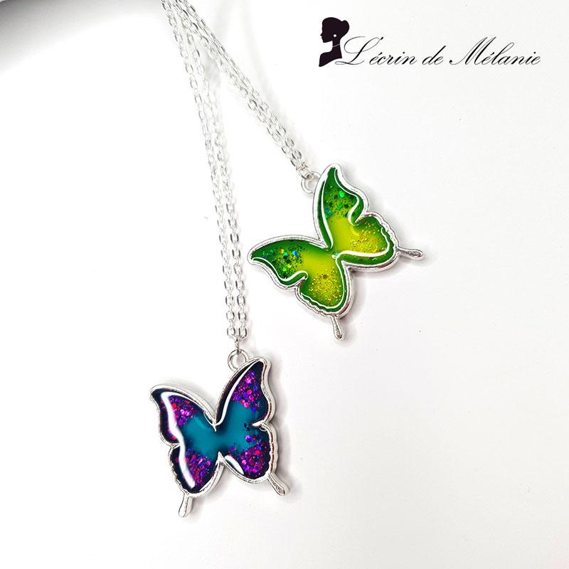 Colliers Papillon en résine