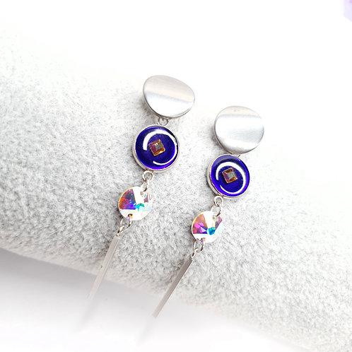 Boucles pendantes avec puces - Ileana