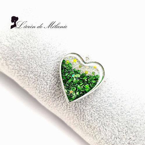 Collier Coeur de resine - Espoir