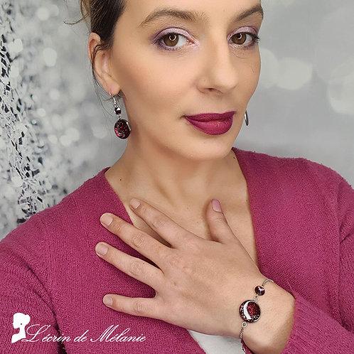 Bracelet et Boucles - Red Wine