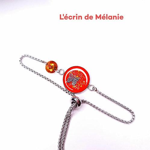 Bracelet avec Swarovski - Petit papillon