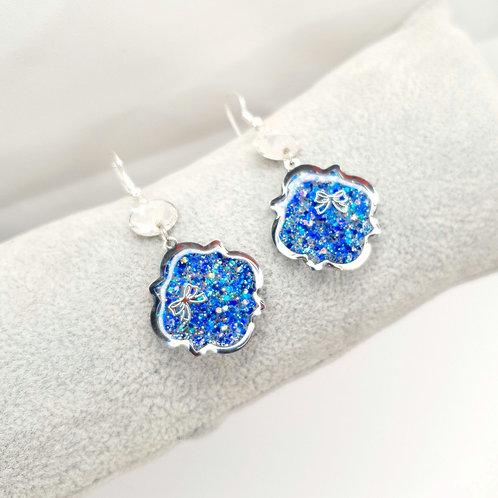 Boucles d'oreille - Les orientales (bleus et argenté)
