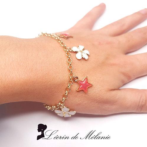 Bracelet - Simone Saumon et Blanc