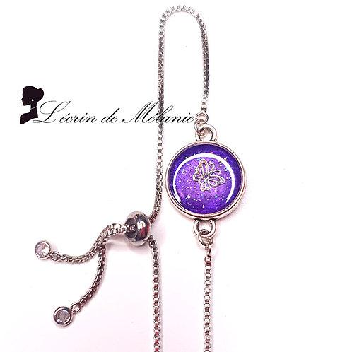 Bracelet - Papillon violet