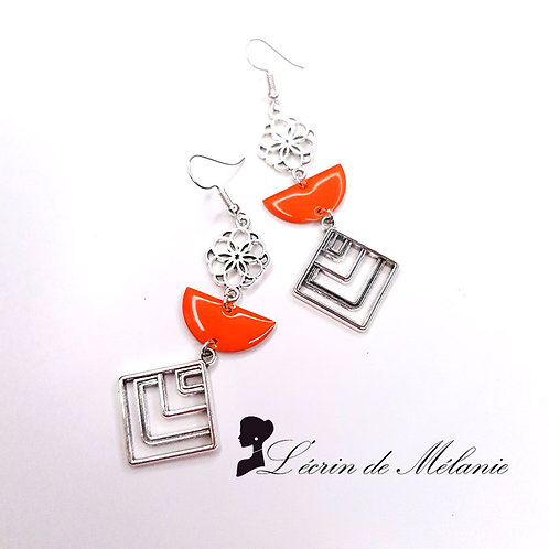 Boucles d'oreille - Meloe (orange)