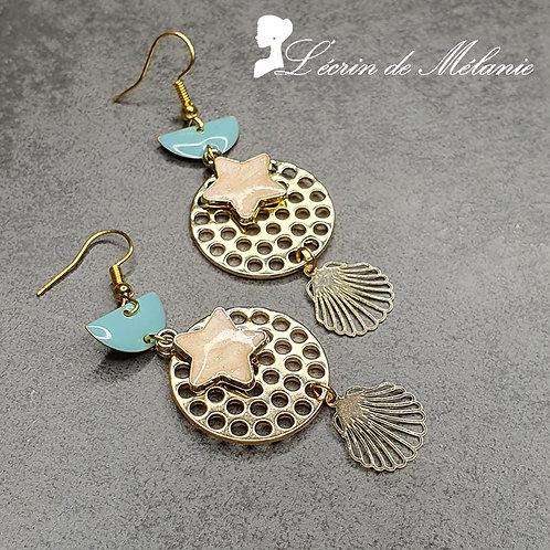 Boucles d'oreille - Starfish