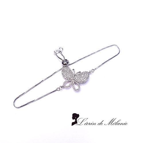Bracelet - Papillon en strass