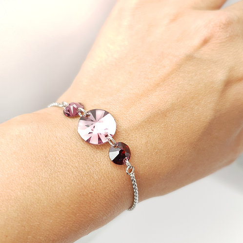Bracelet -  Cristaux de Swarovski Amethyst