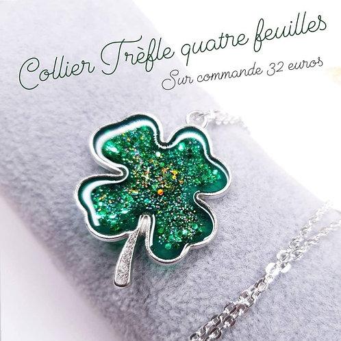 Collier - Trèfle Vert