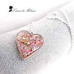Collier Coeur de Résine