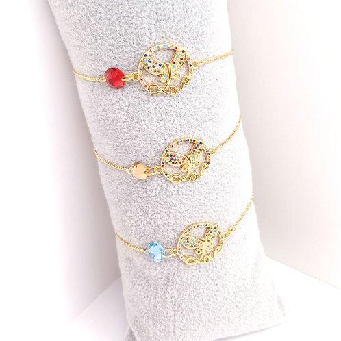 Bracelets cuivre avec Cristal de swarovski