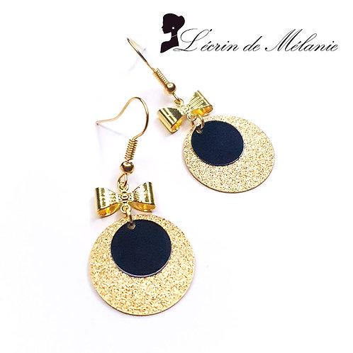 Boucles d'oreille - Laurette (Noires)