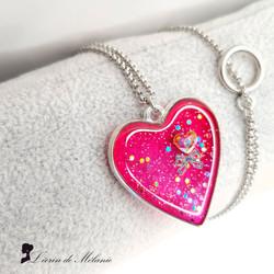 Collier Coeur de resine - Enchantement