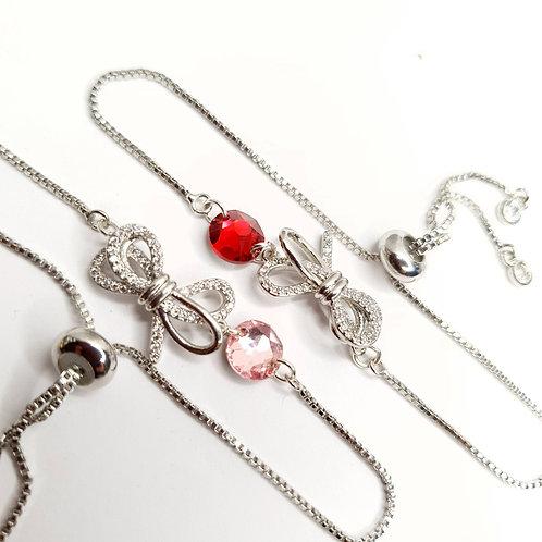 Bracelet - Petit Nœud Rouge