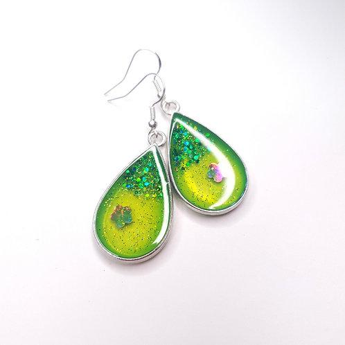 Boucles d'oreille -  Citron Vert
