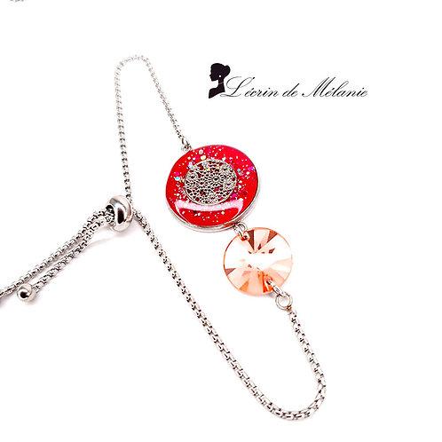 Bracelet avec Swarovski - Peach