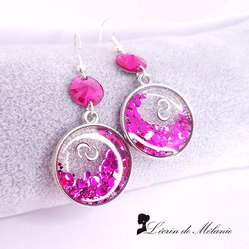 Boucles d'oreille - Crépuscule Rose