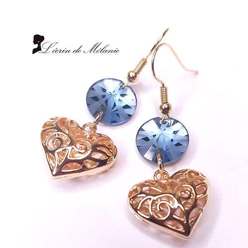 Boucles d'oreille - Jolis Coeurs Brillants