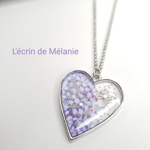 Collier Coeur de resine - Divine