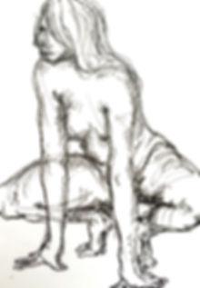 ball point sketch on drawing by joseph sheppard . aafke de jong