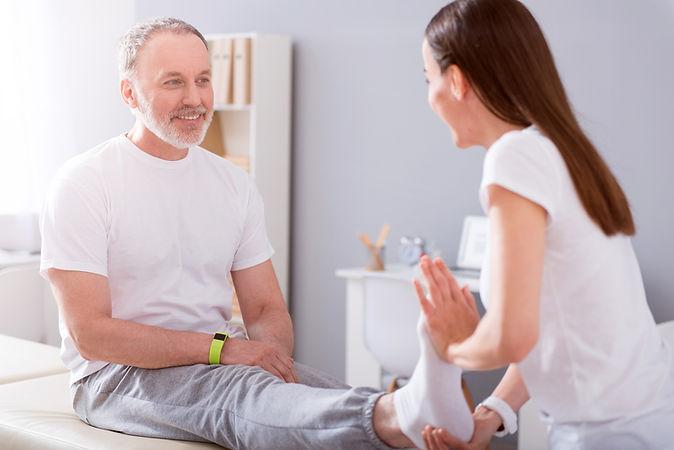 sessão de fisioterapia